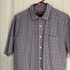 Men's shirt sleeve dress shirt